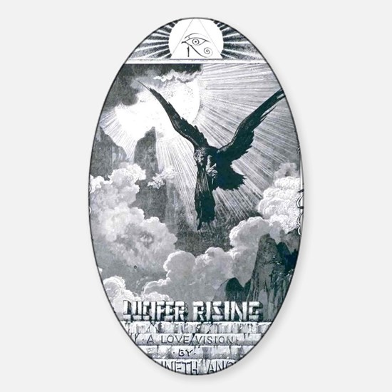 lucifer rising Sticker (Oval)