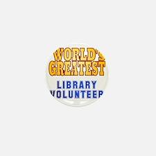 World's Greatest Library Volunteer Mini Button