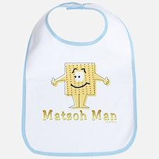 Matzoh Man Passover Bib