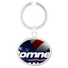 Romney Ryan 2012 Oval Keychain