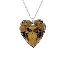 Buddha Ipression Necklace Heart Charm