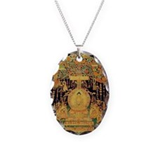 Buddha Ipression Necklace Oval Charm