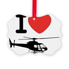 I Heart Helicopter Ornament