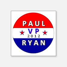 "Paul Ryan VP 2012 Square Sticker 3"" x 3"""