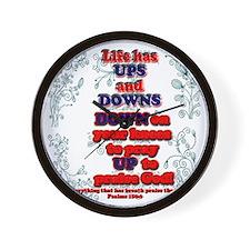 Ups  Downs Wall Clock