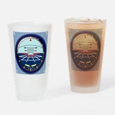 ArtHorizClutchBag Drinking Glass