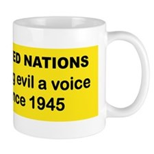 UNITED NATIONS GIVING EVIL A VOICE SINC Mug