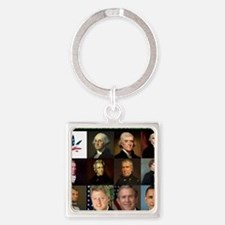 Presidential Potheads Square Keychain