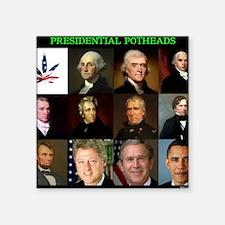 "Presidential Potheads Square Sticker 3"" x 3"""