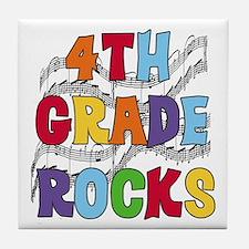 Bright Colors 4th Grade Tile Coaster