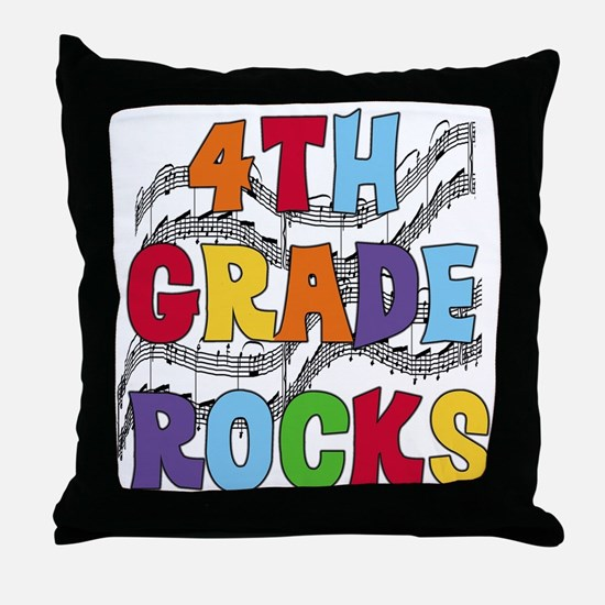 Bright Colors 4th Grade Throw Pillow