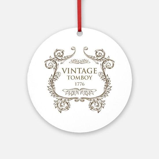 Vintage Tomboy 1776 Round Ornament