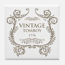 Vintage Tomboy 1776 Tile Coaster