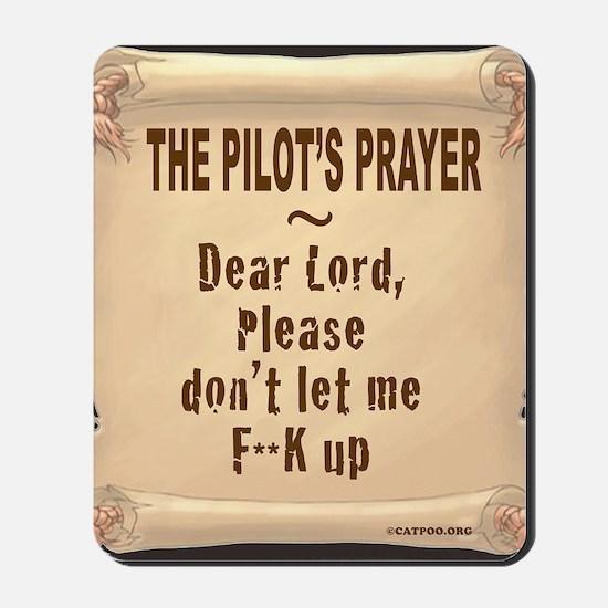 PilotsPrayerFuoLuggHandleWrap Mousepad
