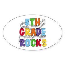 Bright Colors 5th Grade Oval Stickers