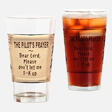 PilotsPrayerFuoLuggHandleWrap Drinking Glass