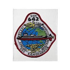 uss kamehameha ssn patch transparent Throw Blanket