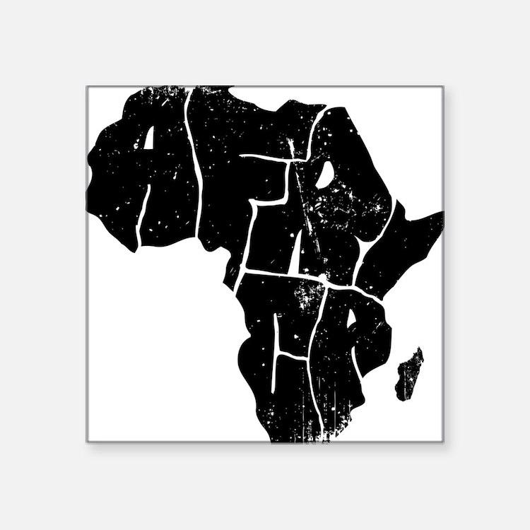 "Africa Undivided Square Sticker 3"" x 3"""