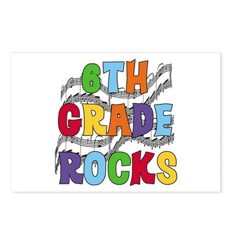Bright Colors 6th Grade Postcards (Package of 8)