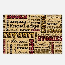 Books Books Books Postcards (Package of 8)