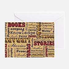 Books Books Books Greeting Card