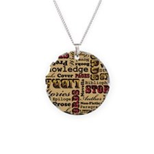 Books Books Books Necklace Circle Charm