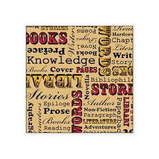 "Books Books Books Square Sticker 3"" x 3"""