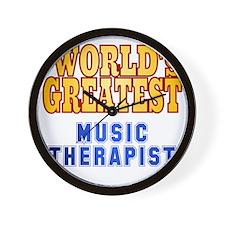 World's Greatest Music Therapist Wall Clock