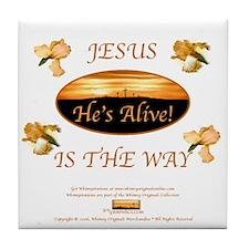Jesus Is The Way Tile Coaster