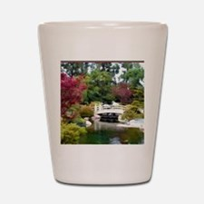 Japanese GArden and Bridge Shot Glass