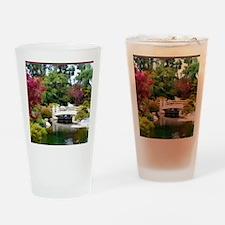 Japanese GArden and Bridge Drinking Glass