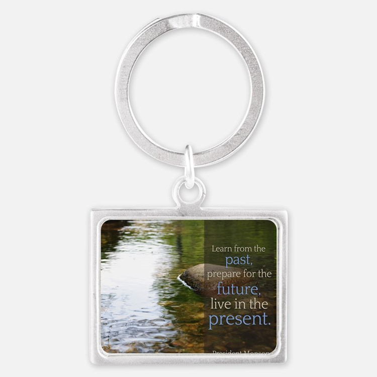 LDS Quotes- Learn from the past Landscape Keychain