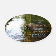 LDS Quotes- Learn from the past... Oval Car Magnet