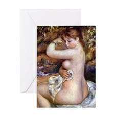 Renoir After The Bath Greeting Card