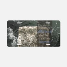 LDS Quotes- Thine adversity Aluminum License Plate