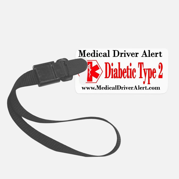 DT2-med-driver-alert-one-sticker Luggage Tag