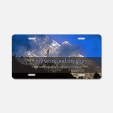 LDS Quotes- This is my work Aluminum License Plate