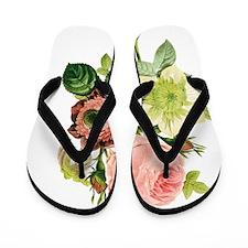 Pierre-Joseph Redoute Flowers Flip Flops