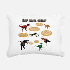 Dinosaur Bullies Rectangular Canvas Pillow