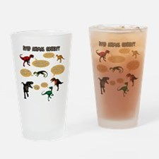 Dinosaur Bullies Drinking Glass