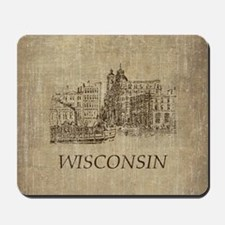 Vintage Wisconsin Mousepad