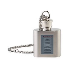 The American Charter or The Decalog Flask Necklace