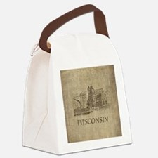 Vintage Wisconsin Canvas Lunch Bag
