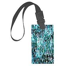 Blue Rain Luggage Tag