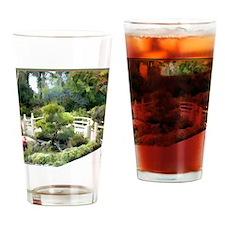 Japanese Garden Pine Tree at Bridge Drinking Glass