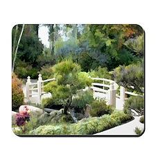 Japanese Garden Pine Tree at Bridge Mousepad