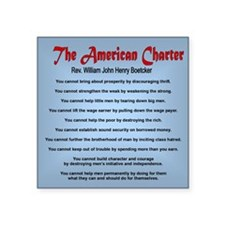 """The American Charter or The Square Sticker 3"""" x 3"""""""