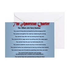 The American Charter or The Decalogu Greeting Card