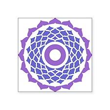 "Sahasrara Chakra Square Sticker 3"" x 3"""