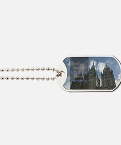 LDS Quotes- For after much tribulation co Dog Tags